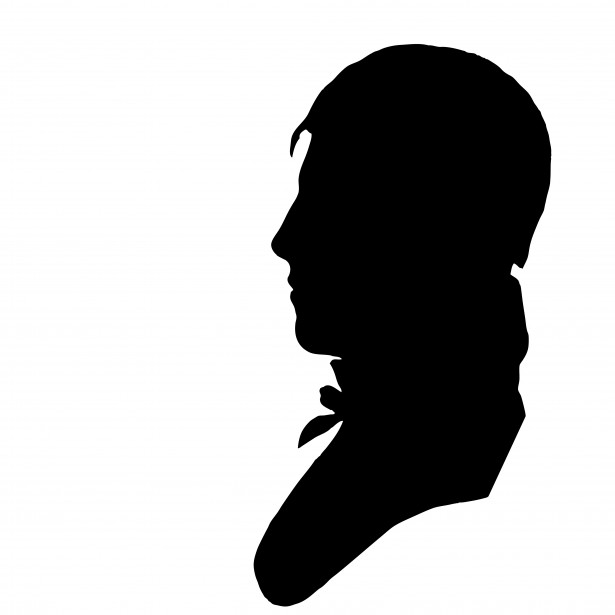 615x615 Vintage Male Profile Silhouette Free Stock Photo