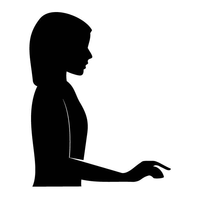 660x660 Woman Profile Silhouette