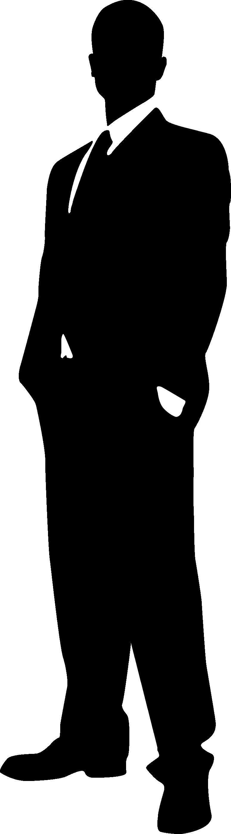 775x2800 Man Silhouette Clip Art