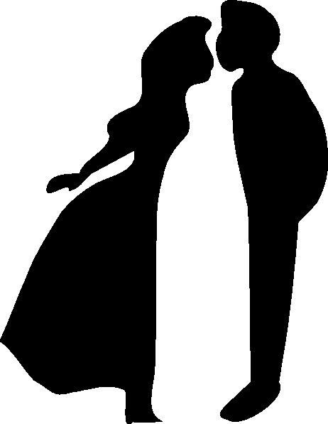 462x597 Wedding Black Silhouette Clip Art