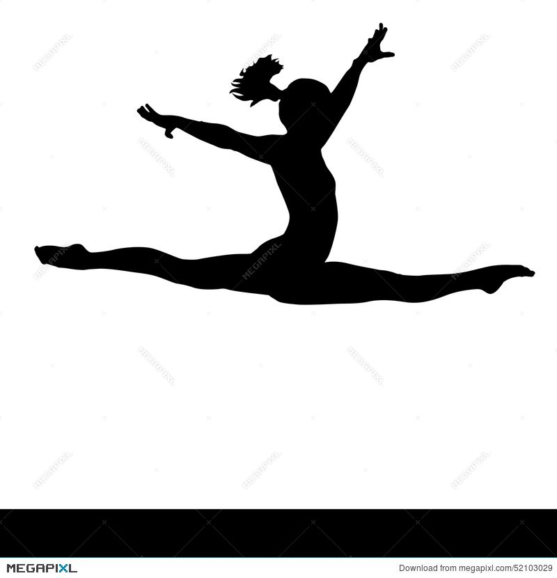 800x830 Artistic Gymnastics. Gymnastics Woman Silhouette. Clip Art