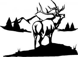 Pronghorn Antelope Silhouette