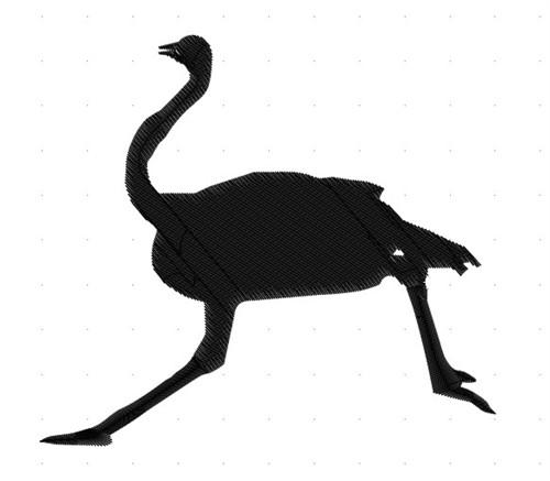 500x437 Ostrich Silhouette Embroidery Design Annthegran