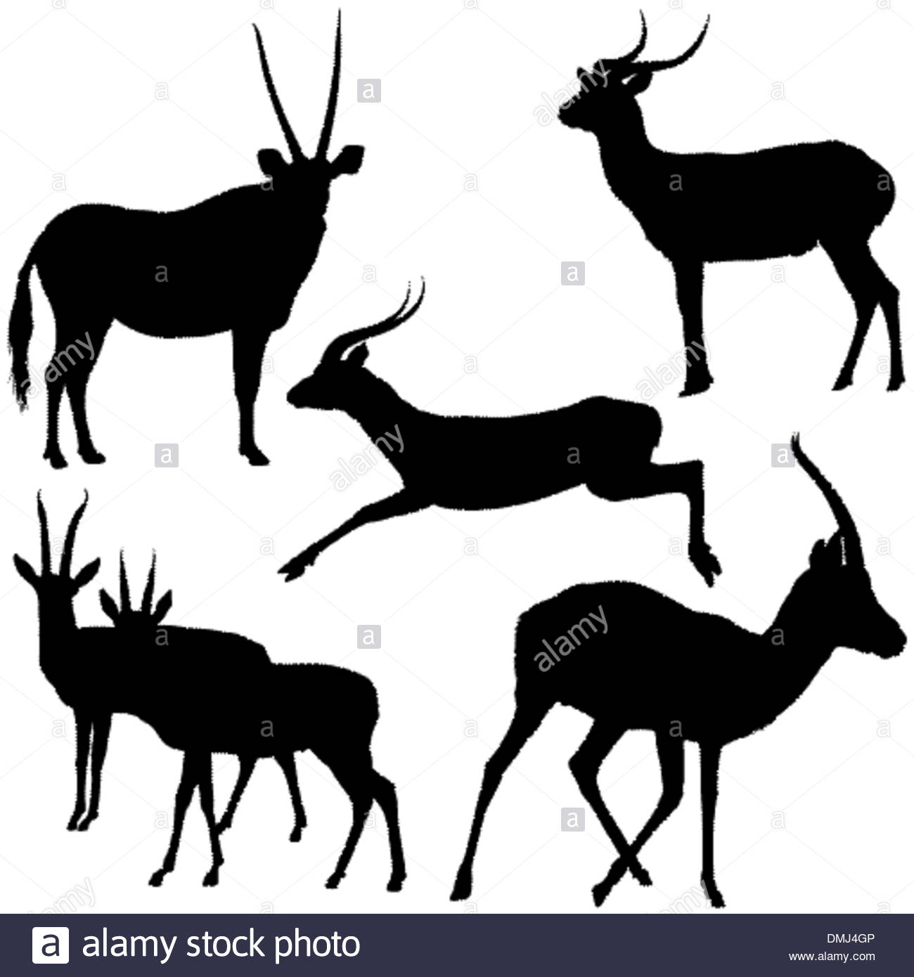 1300x1390 Antelope Silhouettes Stock Vector Art Amp Illustration, Vector Image