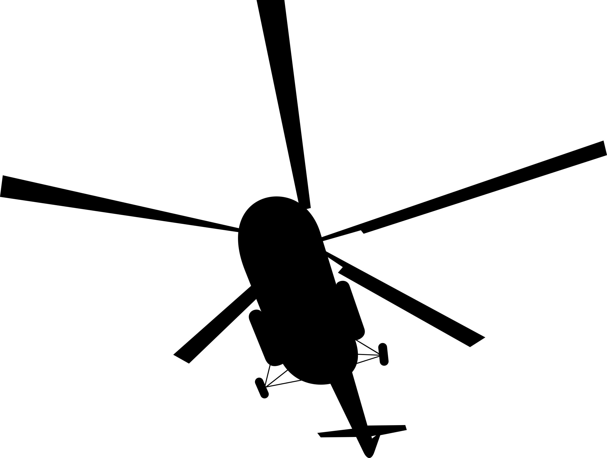 2400x1810 Civilian Helicopter Silhouette Icons Png