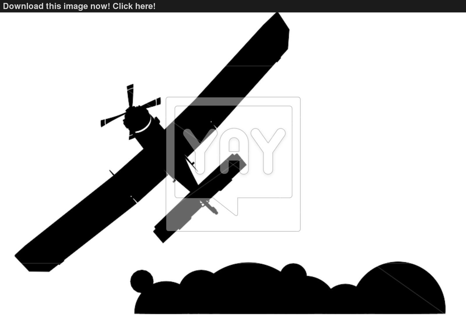 1600x1131 A Small Plane Silhouette Vector