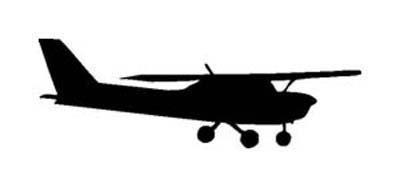 400x187 Cessna 150 Silhouette Vinyl Stickerdecal (Flyong