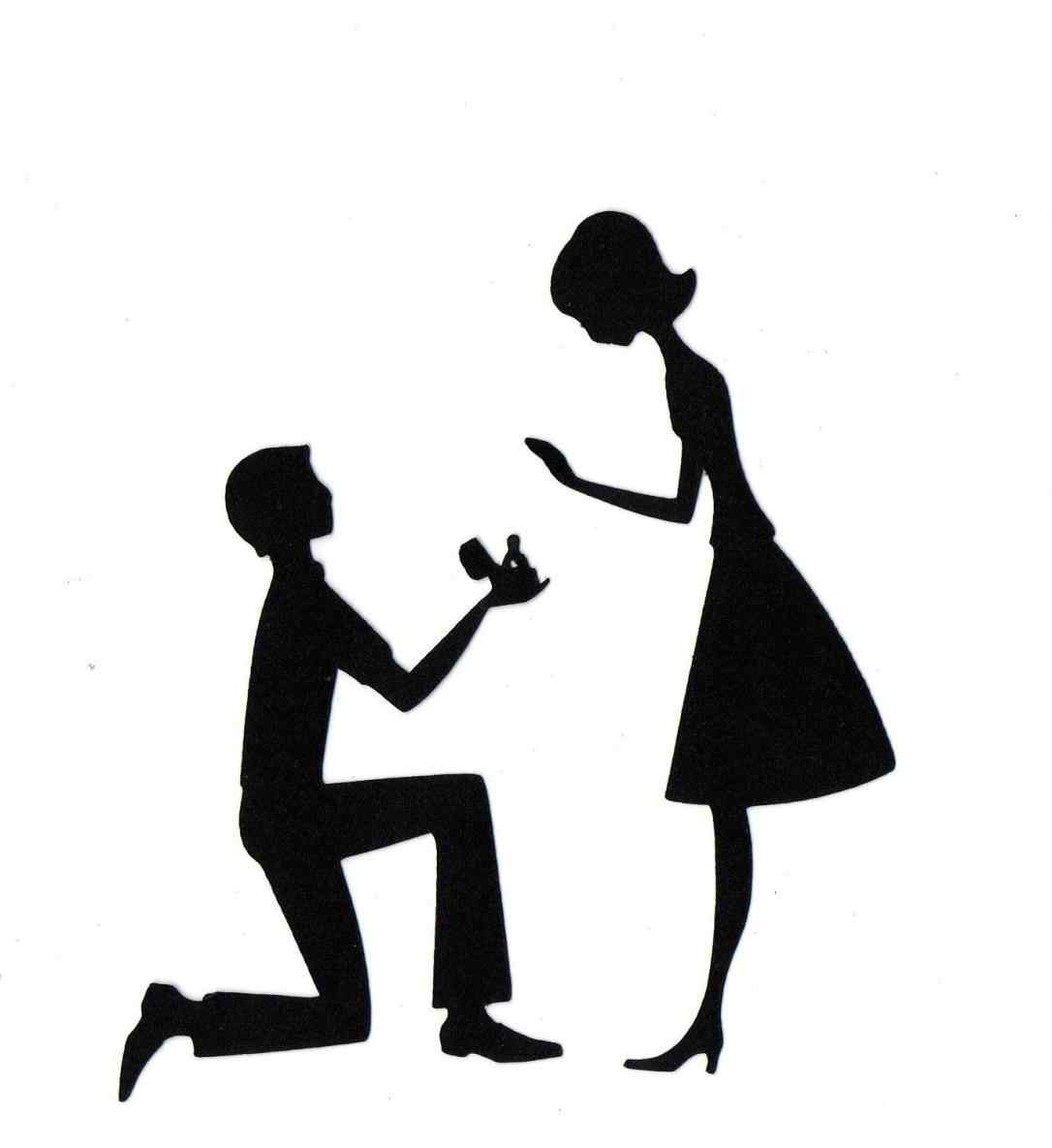 proposal silhouette clip art at getdrawings com free for personal rh getdrawings com marriage proposal clipart proposal clipart free