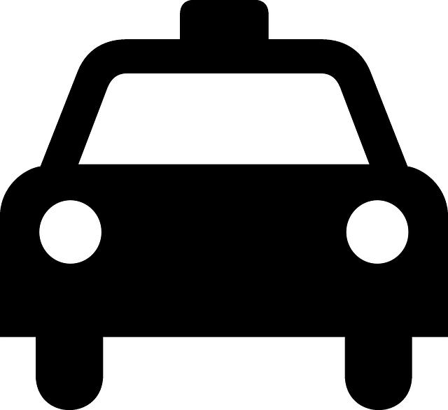 640x586 Silhouette, Car, Ride, Transportation, Taxi, Public