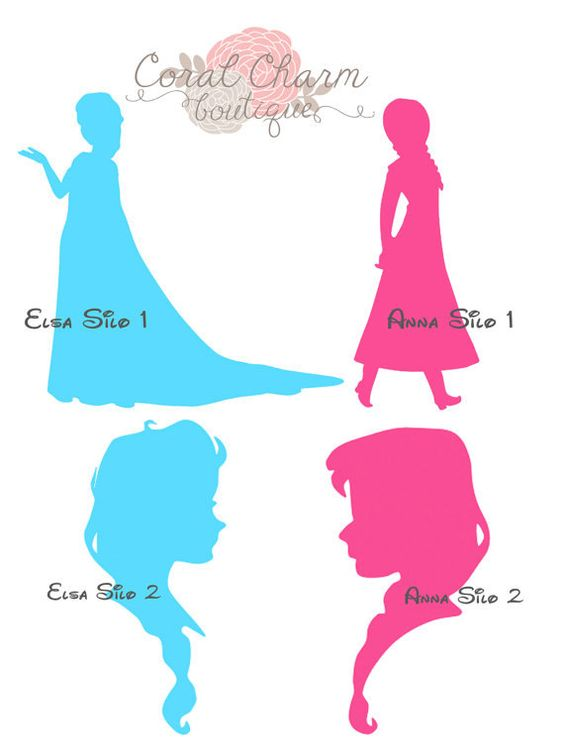 564x748 Elsa Silhouette Printable Clipart