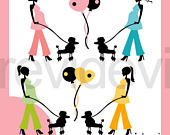 170x135 Items Similar To Mom To Be Walk With Poodle Clipart Silhouette