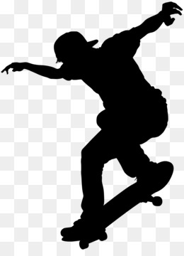 260x360 Roller Skating Ice Skating Silhouette