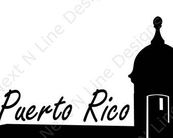 340x270 Puerto Rico Decal Etsy