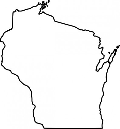 396x425 Us Map Outline Image