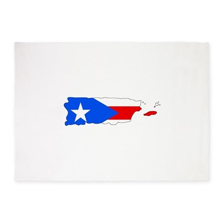 460x460 Puerto Rican Flag Area Rugs