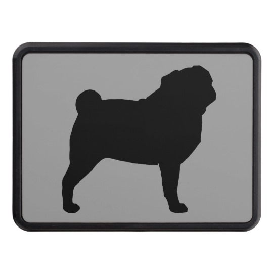 540x540 Pug Silhouette Tow Hitch Cover