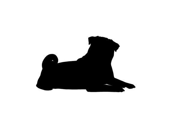 570x428 Pug V2 Dog Breed Silhouette Custom Die Cut By Stickemupdecalsaz