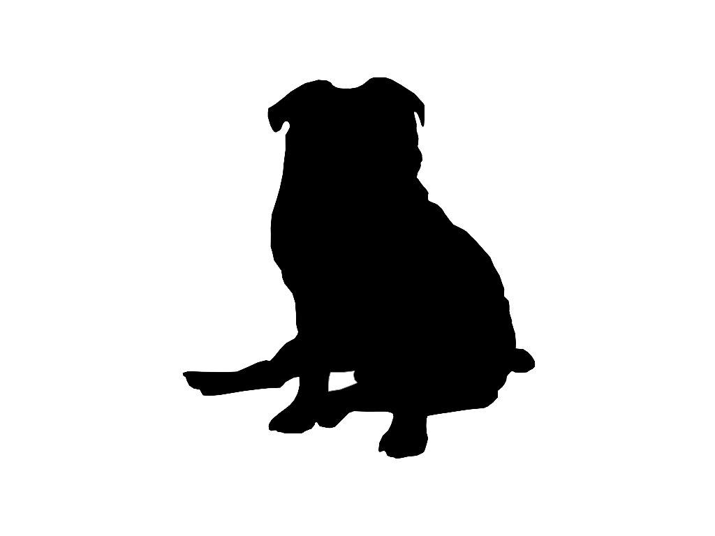 1024x768 Pug V5 Dog Breed Silhouette Custom Die Cut Vinyl Decal Sticker