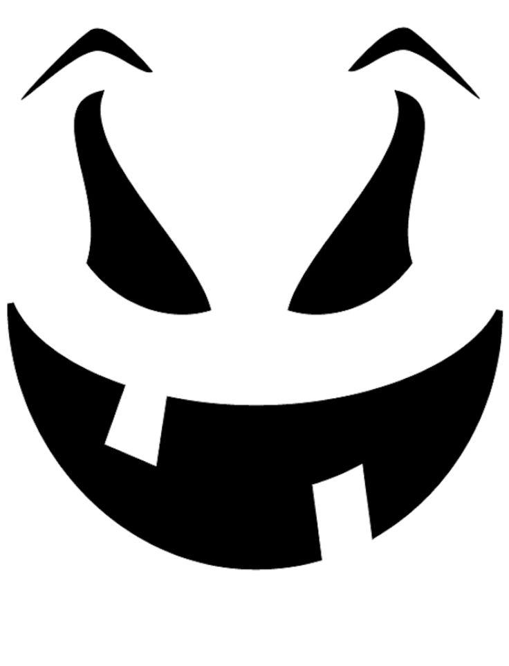 736x962 Halloween Pumpkin Face Clipart