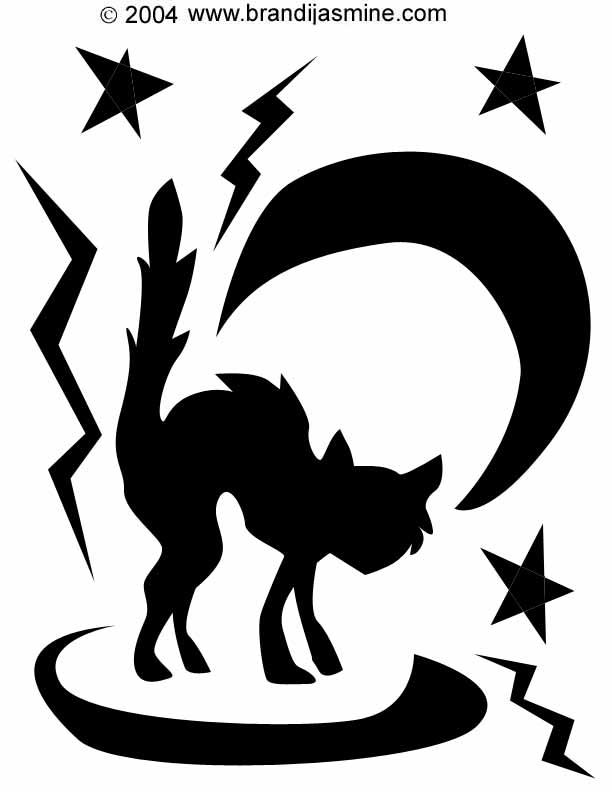 612x792 28 Halloween Cat Pumpkin Stencils For A Spooky Halloween Band