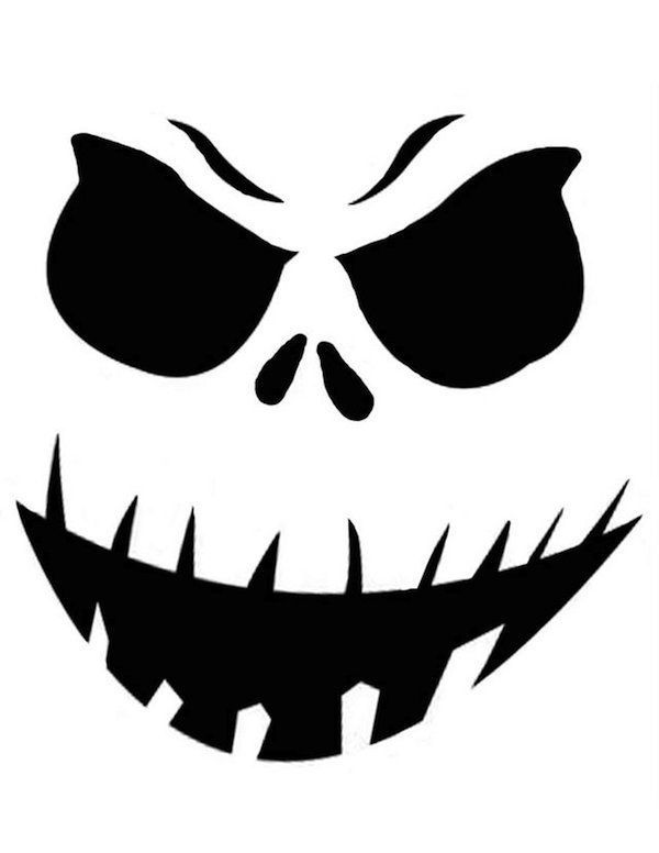 600x776 Pumpkin Carving Templates Big Smile With Teeth Best Design