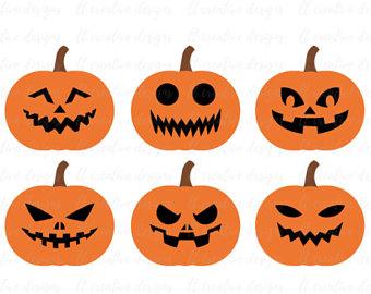 340x270 Pumpkin Face Svg Etsy