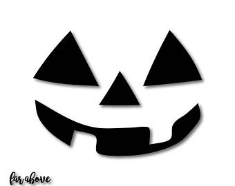 340x270 Vinyl Pumpkin Faces Etsy