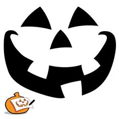 image relating to Printable Jack O Lantern Faces named Pumpkin Confront Silhouette at  Free of charge for