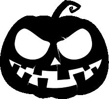 224x203 Halloween Silhouette Clipart Pumpkin