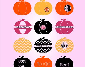 340x270 Pumpkin Monogram A~z Applique,thanksgiving Letters Applique