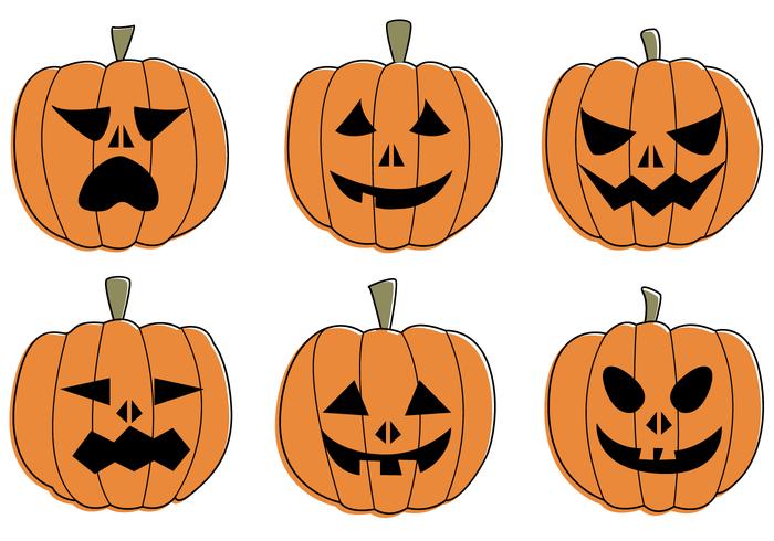 700x490 Flat Geometric Halloween Jack O' Lantern Pumpkin