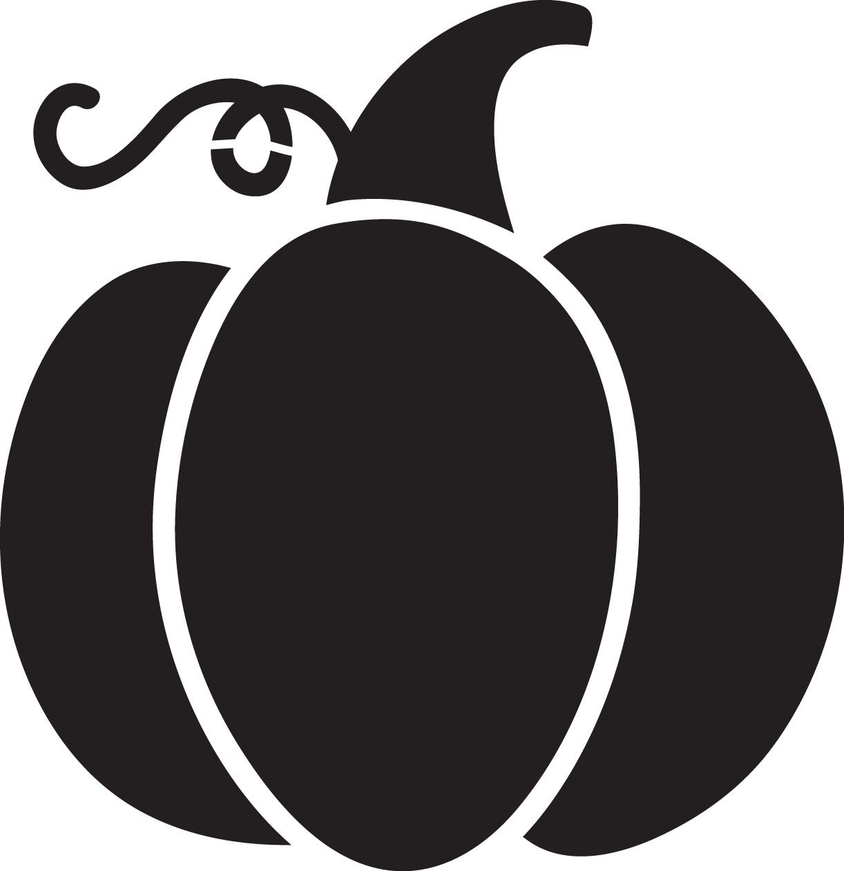 Pumpkin Silhouette at GetDrawings.com | Free for personal ...