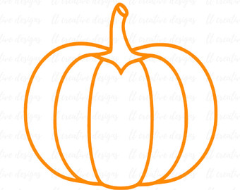 340x270 Pumpkin Svg Pumpkin Cut File Silhouette Cut File Cricut Cut