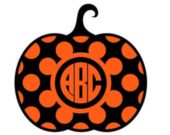 340x270 Quatrefoil Pumpkin Monogram Svg Instant Download Design For Cricut