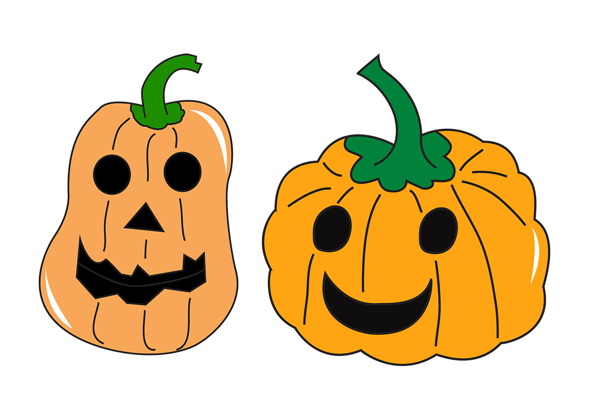 1160x772 Cute Halloween Svg Doodle Christmas Elements, Pumpkin Svg