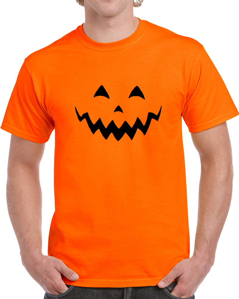 801x1001 Funny Halloween Big Head Pumpkin Silhouette Costume T Shirt