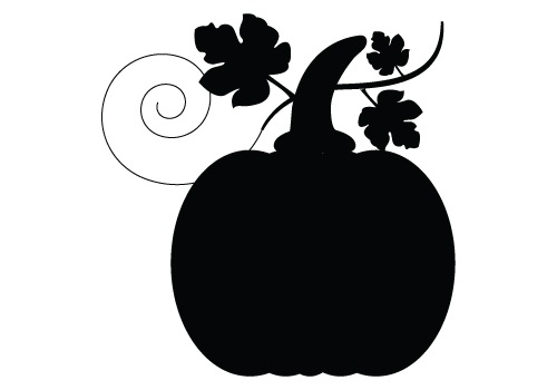 500x350 Pumpkin Clipart Silhouette Pencil And In Color Pumpkin Clipart