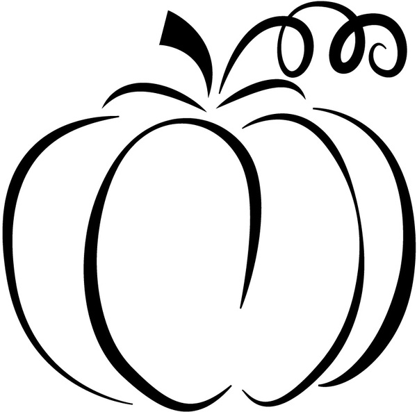 600x593 Pumpkin Silhouette Free Vector In Adobe Illustrator Ai ( Ai