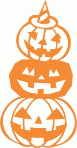 157x300 Silhouette Design Store Halloween Pumpkin Scene Cutout Scroll