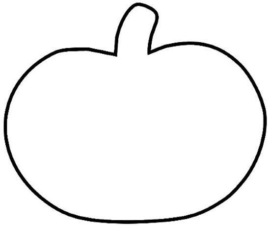 Pumpkin Silhouette Template at