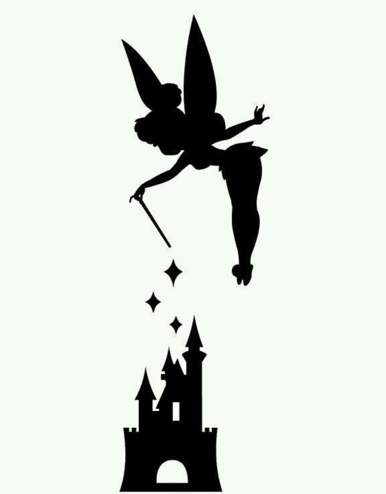 1242x1588 Tinker Bell And Disney's Castle Pumpkin Stencil It's The Great