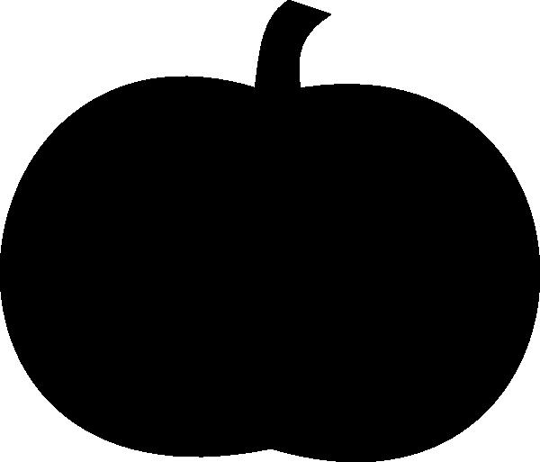 600x513 Pumpkin Silhouette Clip Art