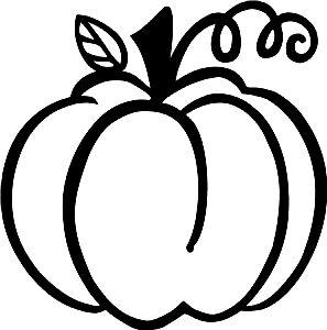 297x300 Pumpkin. Black Silhouette.