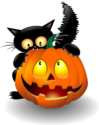 382x482 Halloween Scary Pumpkins Silhouette Clip Free Vector Download