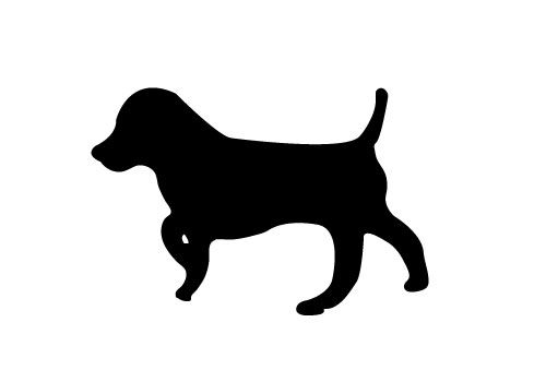 500x350 Free Dog Silhouette Vector Download Here