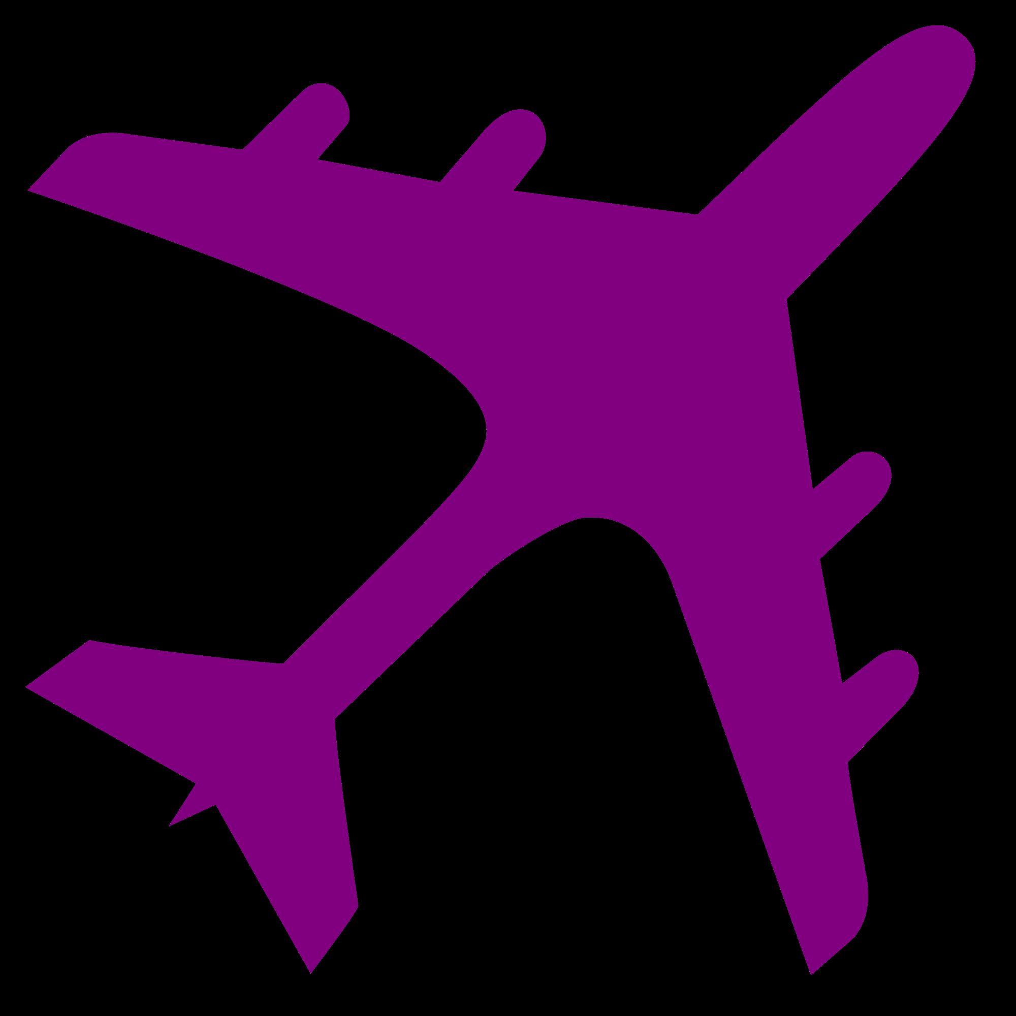 2000x2000 Fileairplane Silhouette Purple.svg