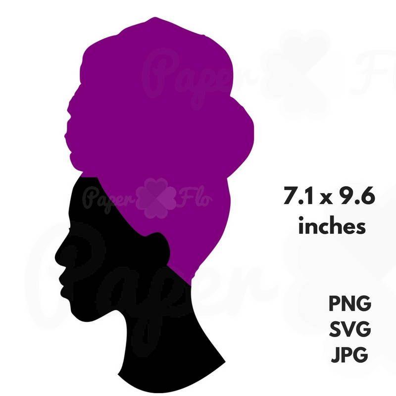 800x800 Head Wrap Svg Silhouette Clip Art Headwrap Png File Cricut Files