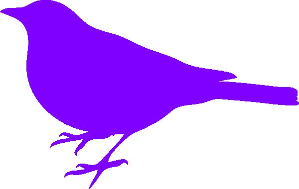 600x380 Purple Bird Silhouette Clip Art