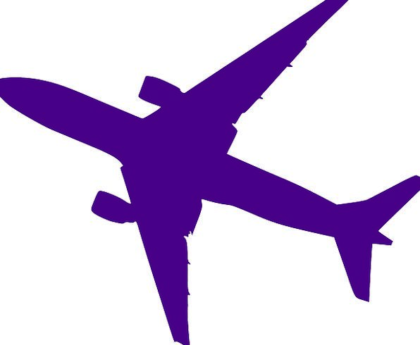596x490 Airplane, Vacation, Outline, Travel, Purple, Elaborate, Silhouette