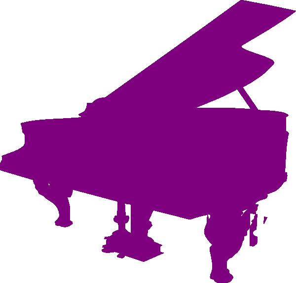 600x575 Purple Piano Silhouette Clip Art